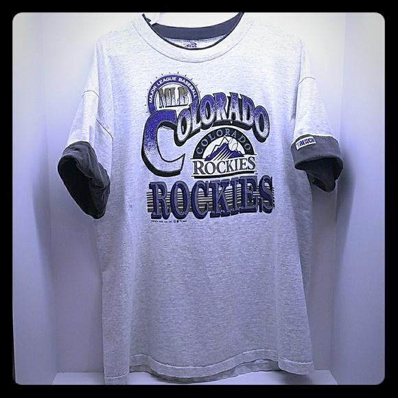 timeless design 28fb2 02ccf Trench Ultra MLB Colorado Rockies Baseball Shirt